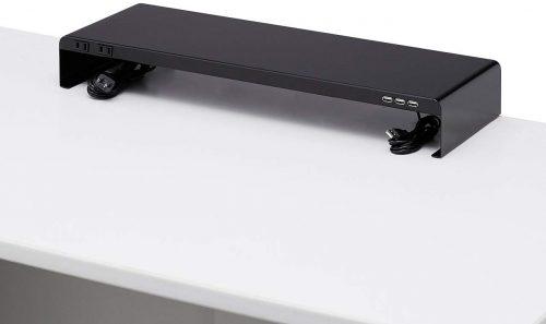 サンワサプライ(SANWA SUPPLY) 電源タップ+USBポート付き机上ラック MR-LC202