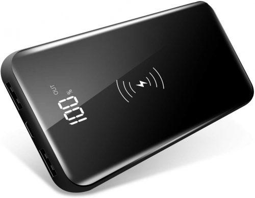 ツネオ(TSUNEO) スタンド機能付 Qiワイヤレス充電器 モバイルバッテリー 10,000mAh