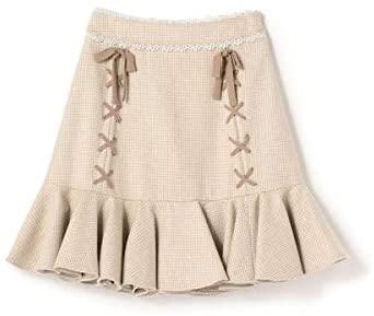 ロディスポット(LODISPOTTO) 裾フレアミニマーメイドスカート