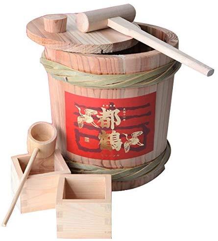 都鶴 ミニ樽鏡開きセット 純米酒