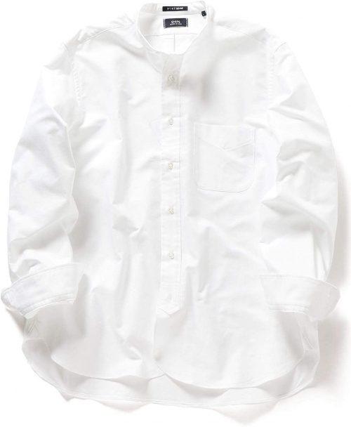シップス(SHIPS) アイク ベーハー オックスフォード バンドカラーシャツ