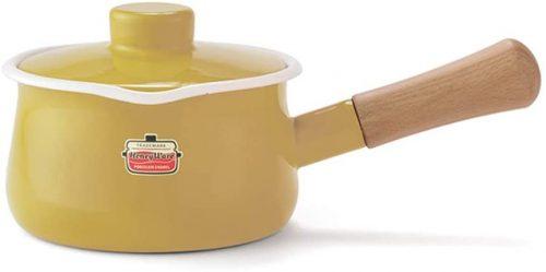 富士ホーロー(Fuji Horo) ハニーウェア(Honey Ware) ソリッド(Solid) ミルクパン 15cm