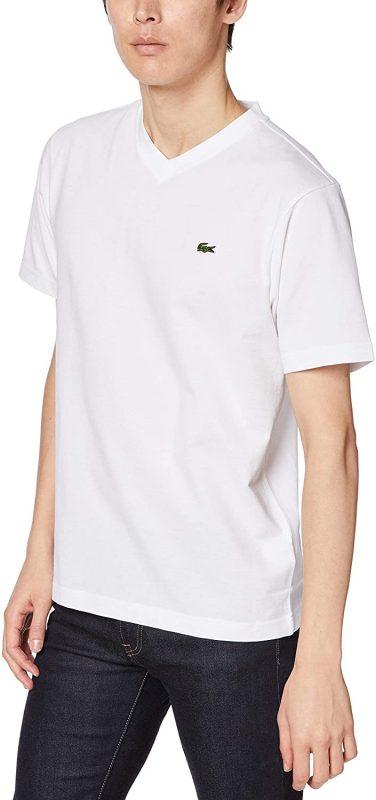 ラコステ(LACOSTE) ワンポイントロゴテニスVネックTシャツ