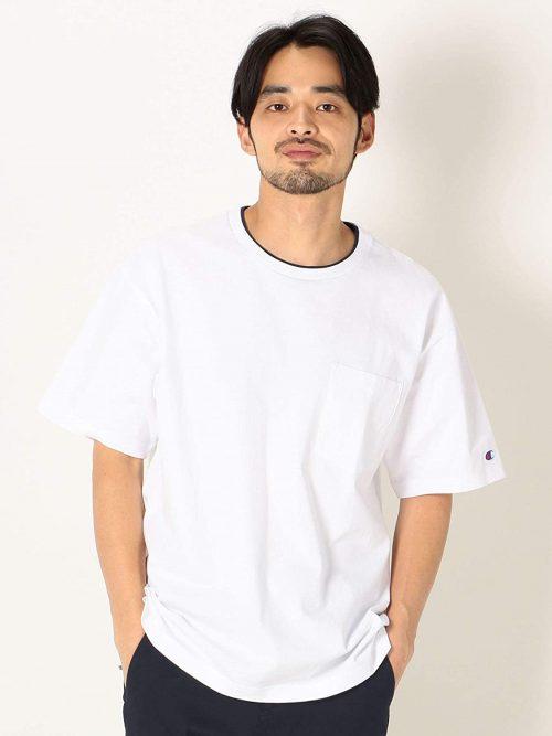 シップス エニィ(SHIPS any)×Champion フェイクレイヤーポケットTシャツ