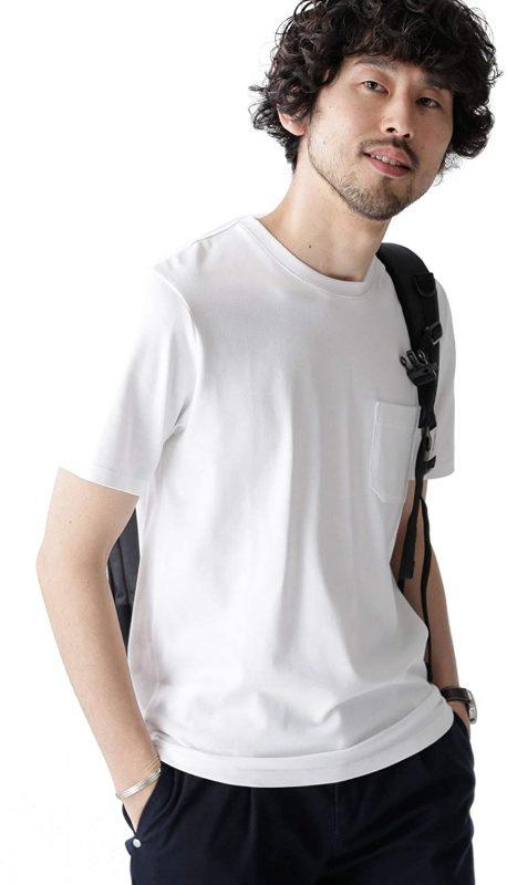 ナノユニバース(nano・universe) AntiSoakedヘビークルーネックTシャツ