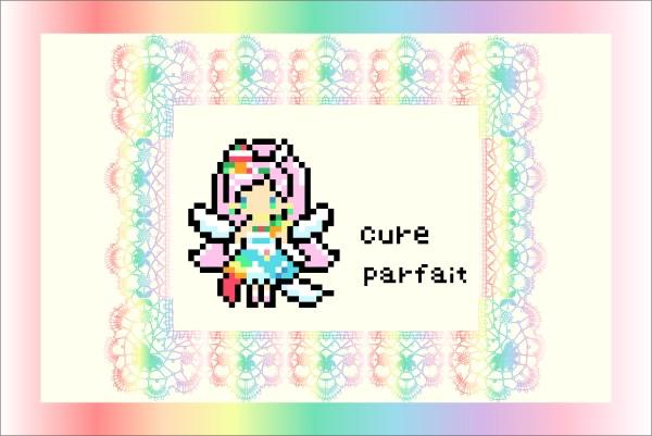 【キラキラ☆プリキュアアラモード】6人目の新プリキュア!!キュアパルフェのアイロンビーズ図案
