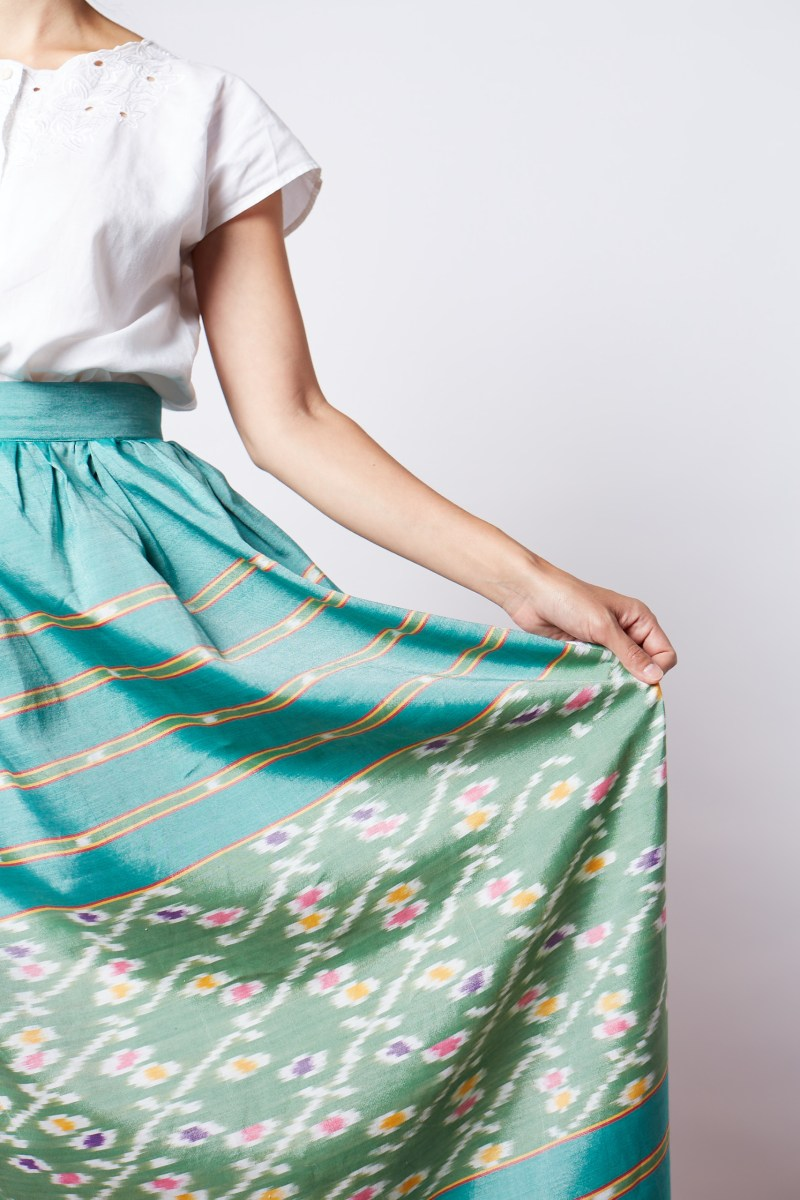 Self-Drafted Gathered Skirt