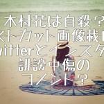 木村花は自殺?リストカット画像載せたTwitterとインスタに誹謗中傷のコメント?