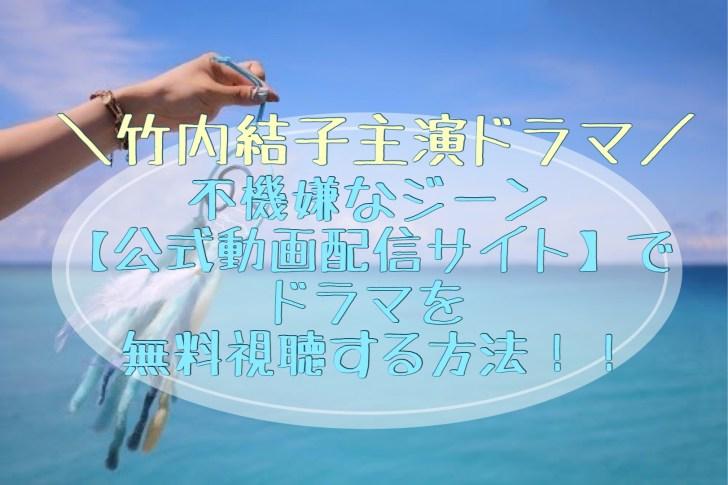 不機嫌なジーン公式動画サイトで全話無料で視聴する方法!竹内結子主演ドラマ情報やあらすじも!