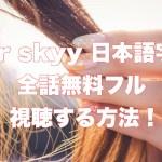 our skyy日本語字幕teemork1話~全話フルで無料視聴する方法!