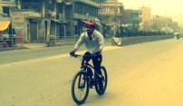 Mahesh hitting top speeds in his new bike.