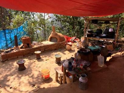 The volunteers' kitchen.