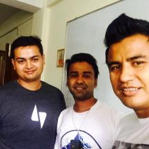With Nilambar Sharma and Anil Basnet