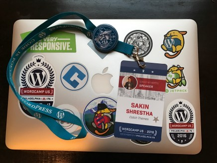 My speaker badge