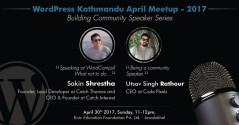 WordPress Kathmandu April Meetup 2017 Banner