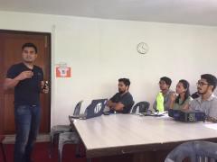 During my presentation