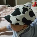牛柄のラップキャップ