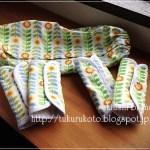 ひまわり模様のエルゴカバー&ヨダレカバーセット/iPadケースの設計図
