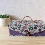 YUWAフラワー紫のmini金庫