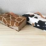 牛柄キリン柄のmini金庫