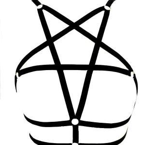 Seksi Göğüs Kafesli Harness