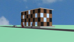 Exterior elevation for model town3