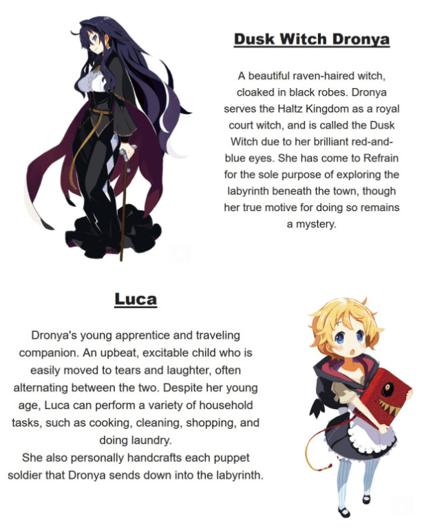 Labyrinth Luca Character Introduction