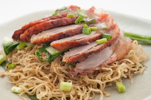 Sliced duck with noodles