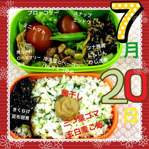 今日のダイエット弁当(2012年7月20日)