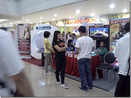 PLDT Watchpad and GameClub Booths in Technolife