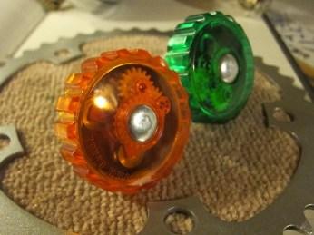 Diamond Bell Green and Orange