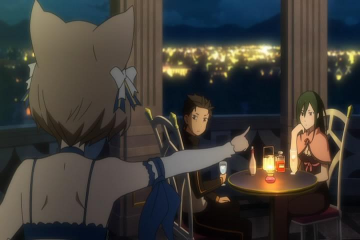 クルシュの無防備な身なりと、スバルとの晩酌に嫉妬する フェリス