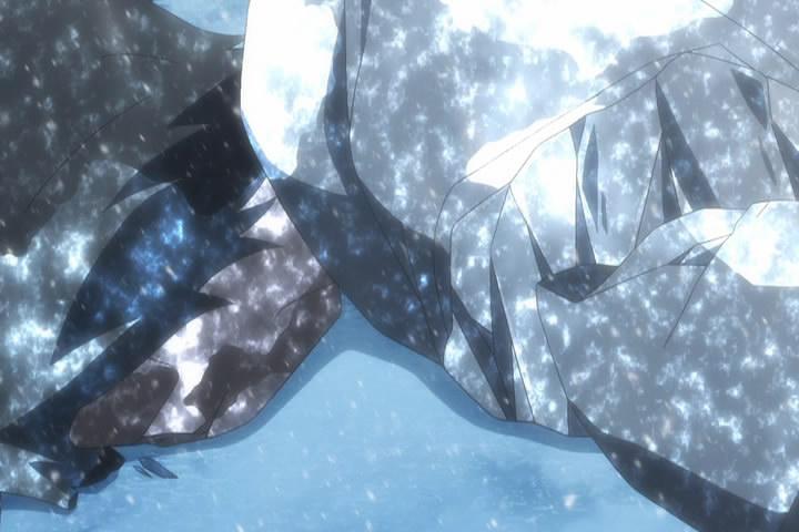 パックの魔力に凍結する スバル