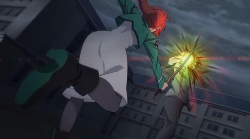 エリカの斬撃を素手で受け止める ミア