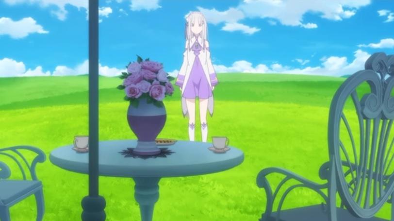 魔女の茶会現場に到着した エミリア