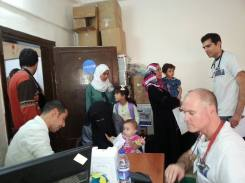 Patients arriving and waiting to get medical attention