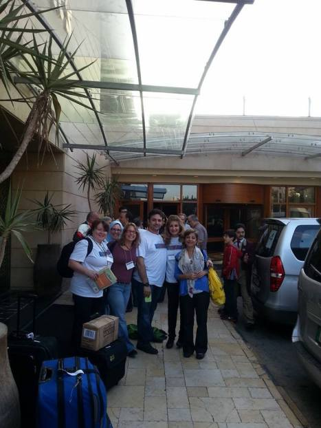 Getting ready to depart the hotel for a full day of work in the northern part of Jordan.