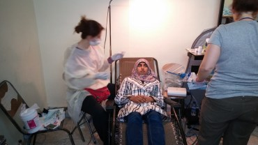 June 1, one of our doctors seeing a patient
