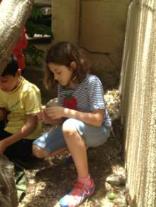 The second day of the mission in Madaba, working with children there