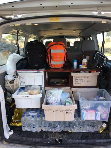 SCM medications in the van, ready if needed