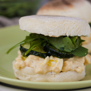 English muffins with egg salad