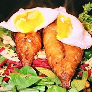 Mackerel And Poached Egg Salad