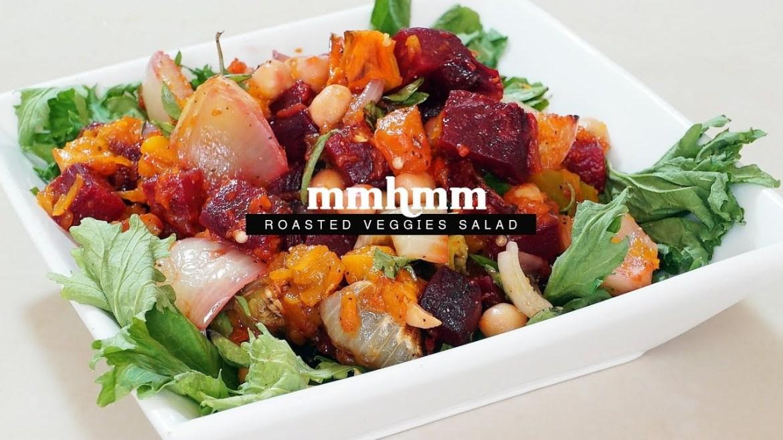 Mmhmm | Roasted Veg & Chick Peas Salad