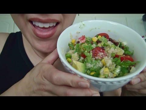 ASMR: Vegan Quinoa Salad   Vegan Ice Cream Bar   Eating Sounds