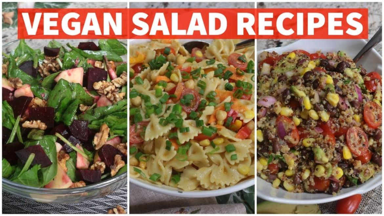 3 Healthy Vegan Salad Recipes/ Quarantine Vegan Meals