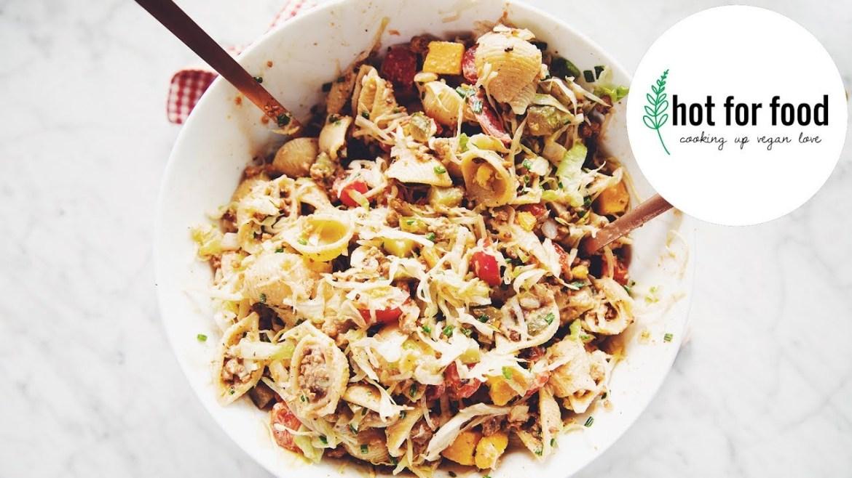 vegan cheeseburger pasta salad (summer BBQ side ideas ep #2) | hot for food