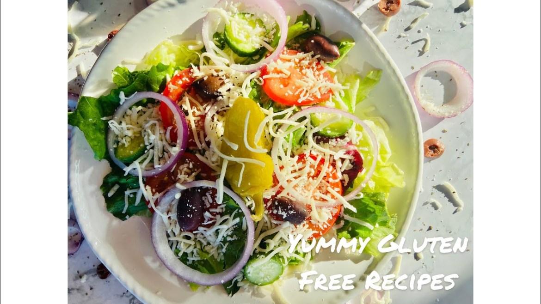 How to Make Easy Mediterranean Salad   Gluten Free, Vegetarian and Healthy Salad