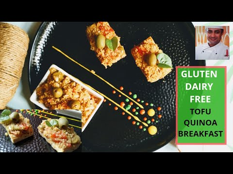 TOFU STEAK, QUINOA SALAD | GLUTEN, DAIRY FREE FOOD | VEGAN HEALTHY BREAKFAST NJ-CHEF NITIN JAIN