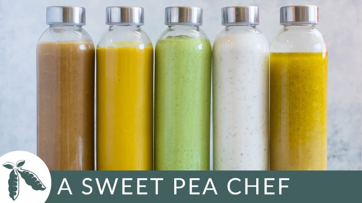 How to Make Homemade Salad Dressing + 5 Healthy Salad Dressing Recipes | A Sweet Pea Chef