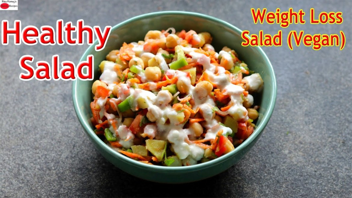 Weight Loss Salad Recipe For Lunch/Dinner – Indian Veg Meal – Diet Plan To Lose Weight Fast